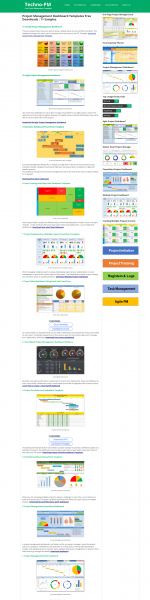 Project management templates dashboard